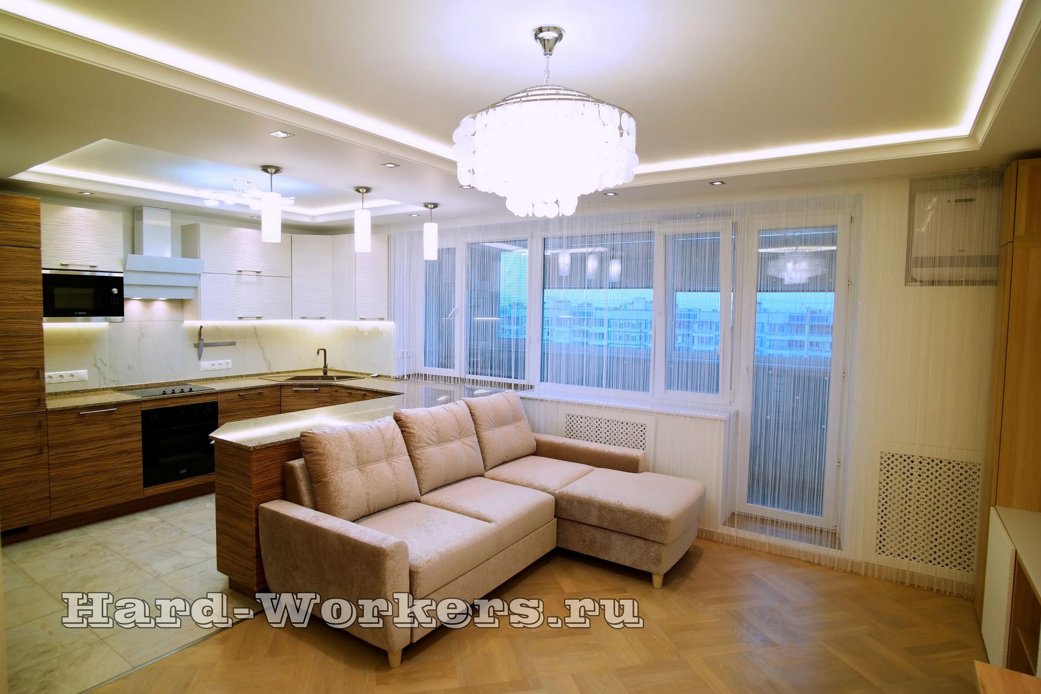 Дизайн-проект интерьера квартиры в Калуге с авторским